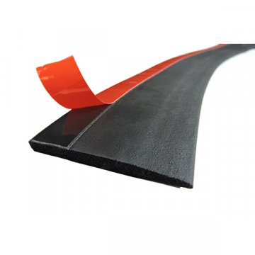 Neoprene rubber extrusions with 3M tape