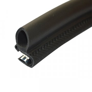 Black Hollow PVC Plastic Seal Strip For Equipment