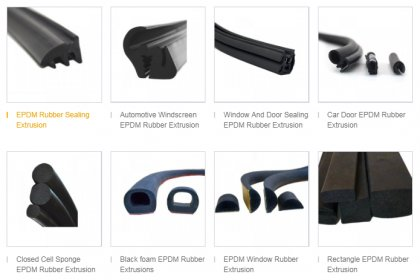 EPDM rubber can be applied to below 120 °C environment