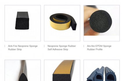 High quality foam extrusion rubber features